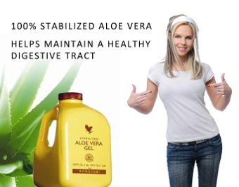 100% stabalized aloe vera helps maintain a healthy digestive tract