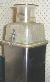 buzzing the aloe vera gel with orange juice in my vitamixer